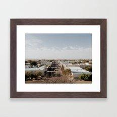 Marfa, Texas Overview Framed Art Print