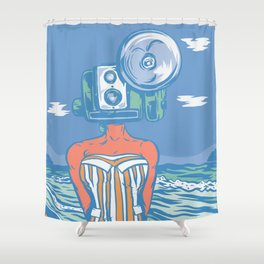 Shower Curtain - Greetings From The Beach - Thomcat23