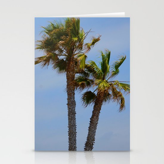 Tropical Palm Trees Stationery Card