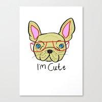 I'm Cute French Bulldog Canvas Print