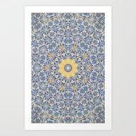 Art Print featuring Deep States (Mandala) by Elias Zacarias