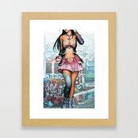 Pokeball Girl Framed Art Print