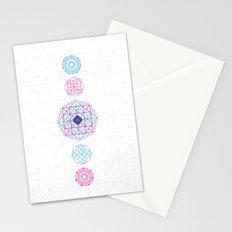Geometric scream Stationery Cards