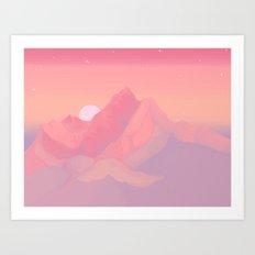 Peach Haze Art Print
