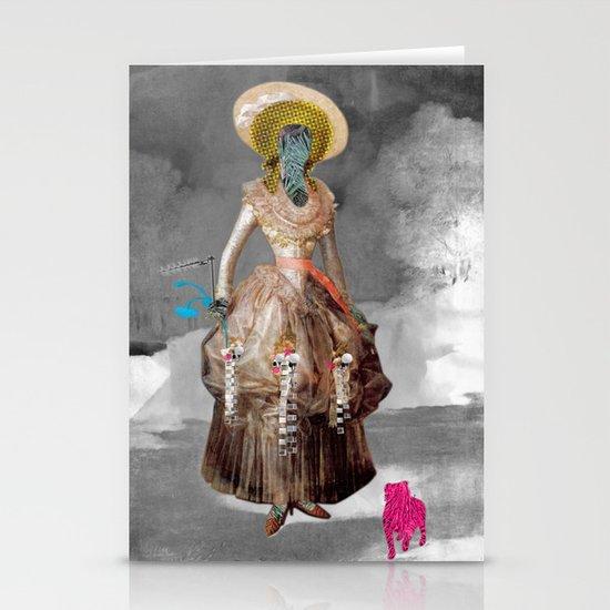 Goya -  Marquesa de Pontejos - Collage Stationery Card