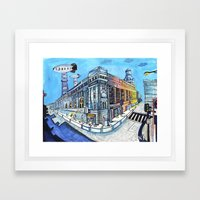 Palace on Blue Street Framed Art Print