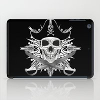 Pirate Skull And Crossbones with Grunge Effect iPad Case