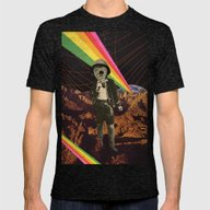 Galactic Cowboy Mens Fitted Tee Tri-Black SMALL