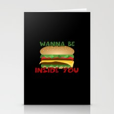 Wanna Be Inside You Cheeseburger Stationery Cards