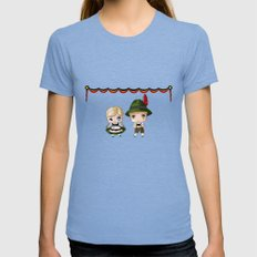 German Chibis Womens Fitted Tee Tri-Blue SMALL