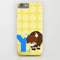 iPhone & iPod Case featuring y for yak by Alapapaju
