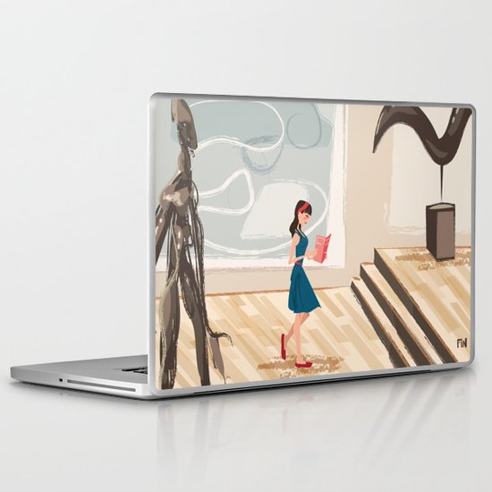 Pretty Girl at the Art Museum Laptop & iPad Skin