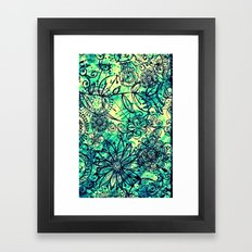 Drawing Flowers - for iphone Framed Art Print