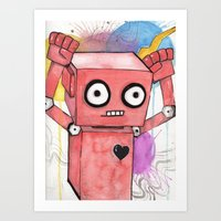 Robot Rage  Art Print