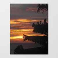 Canvas Print featuring Caribbean Sunset III by SmallIslandInTheSun