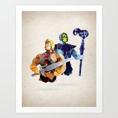 Polygon Heroes - Masters Art Print