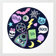 Spooky Babe Art Print