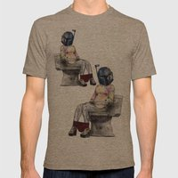 Bobaette Mens Fitted Tee Tri-Coffee SMALL