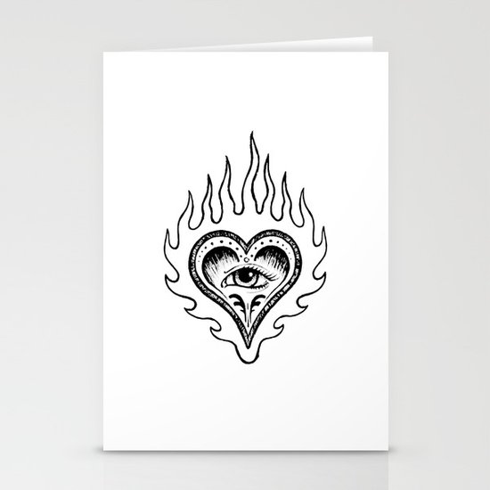 Sacred Heart Stationery Card