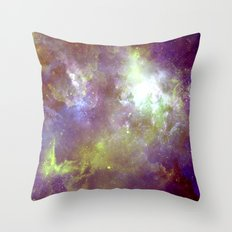 Purple & Gold Throw Pillow