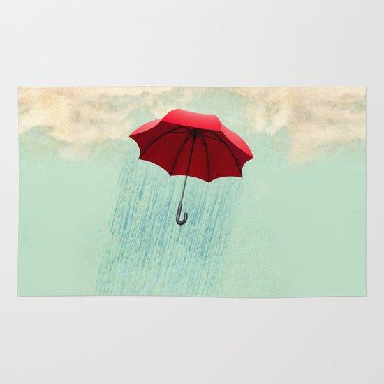 red rain Area & Throw Rug
