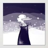 Elf In The Night Canvas Print