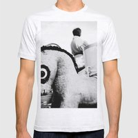 Pony With Big Eyes Mens Fitted Tee Ash Grey SMALL