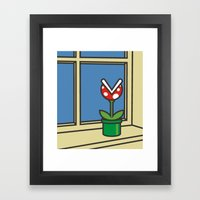 Oh Peach, I Roam My Roam… Framed Art Print