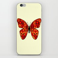 Red Butterfly iPhone & iPod Skin