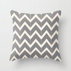Gray & Ivory Chevron Throw Pillow
