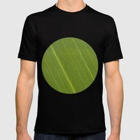 Palm Tree Leaf Mens Fitted Tee Black SMALL