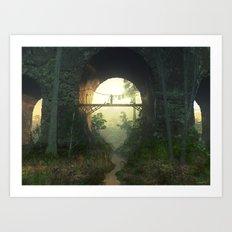 The Bridge Under the Bridge Art Print
