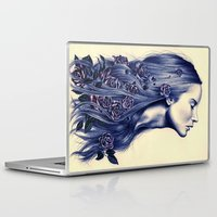 portrait Laptop & iPad Skins featuring Bloom by KatePowellArt