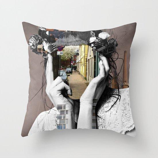 Crazy Woman - Lara Lisa Bella Throw Pillow