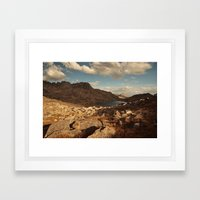 Wind River Mountains And… Framed Art Print