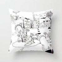 My own Wonderland... Throw Pillow