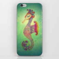 Seahorse Lady iPhone & iPod Skin