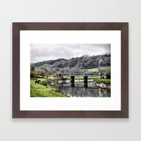 Horse and Bridge Framed Art Print