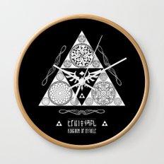 Legend of Zelda Kingdom of Hyrule Crest Letterpress Vector Art Wall Clock
