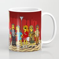 Twin Peaks Simpsonized Mug