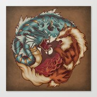 The Tiger and the Dragon Canvas Print