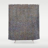 Blue textured Shower Curtain