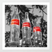 Classic Soda Bottles Art Print