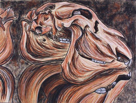 Weremoose Skull Art Print