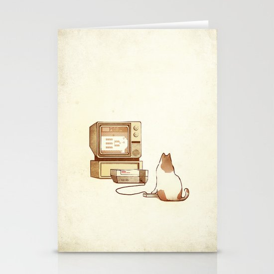 NES Cat  Stationery Card