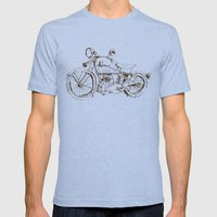 Vintage Indian Motorcycle Mens Fitted Tee Tri-Blue SMALL