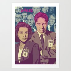 THE X-FILES v2 Art Print