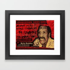 Show Flyer, 1/28/12 (Johnny and the Apple Stompers) Framed Art Print