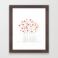 Delicate Blooms Framed Art Print