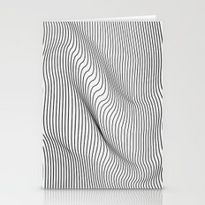 Minimal Curves Stationery Cards